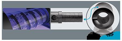 Aqua Medic Quartz tube incl. adjustment piece and holder f. O-ring Helix Max 2.0, 55 W 17